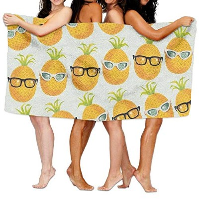 Pineapple With Glasses Cool Printing Swim Beach Towels