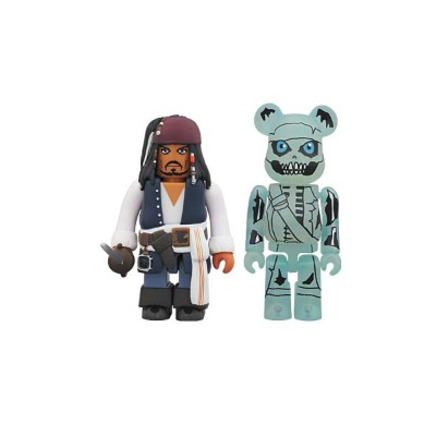 KUBRICK Jack Sparrow & BE@RBRICK Barbossa (The Curse of the Black Pearl)【Disneyzone】