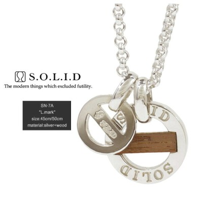 SOLID ソリッドSN-7A L.mark木/woodnecklace/ネックレスsilver925/シルバーメンズ/レディース/アクセサリー