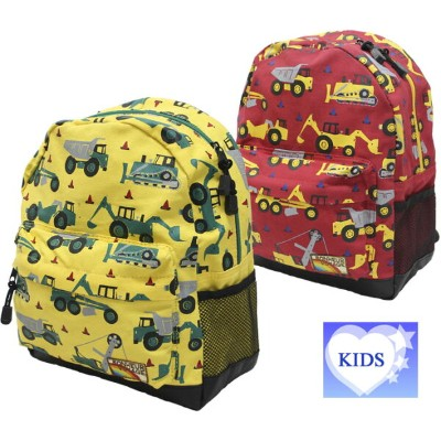 【KIDSキッズ】働く車プリントリュック(Dパック)【あす楽対応】【楽ギフ_包装】【キッズ リュック】【キッズ バッグ】【kids バッグ】【子供 バッグ】誕生日プレゼント ギフト プレゼント...