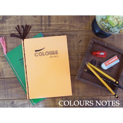 【500WORKS.】COLOURS NOTES(海外製ノート)【アンティークノート】