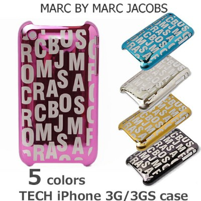 iPhone 3G/3GSケース/アイフォンケース MARC BY MARC JACOBS マークバイマークジェイコブス ロゴ/メタリック ギフト プレゼント