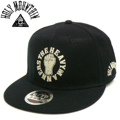 HOLY MOUNTAIN x THE HEAVYMANNERS スナップバックキャップ BK SNAPBACK CAP ザ・ヘビーマナーズDRY&HEAVY REBEL FAMILIA
