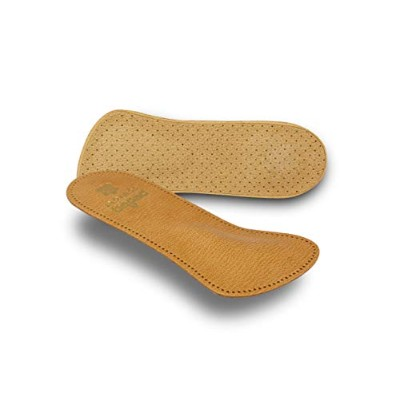 Pedag 142 Comfort 3/4 Leather Orthotic with Supportive Metatarsal Pad and Heel Cushion, Tan, Women...