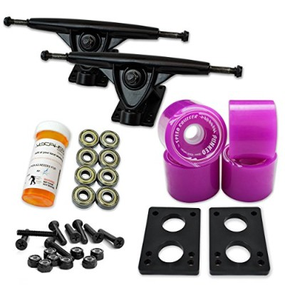 トラック スケボー スケートボード 海外モデル 直輸入 071-Solid Purple Wheel-Black Trucks Yocaher LONGBOARD Skateboard TRUCKS...