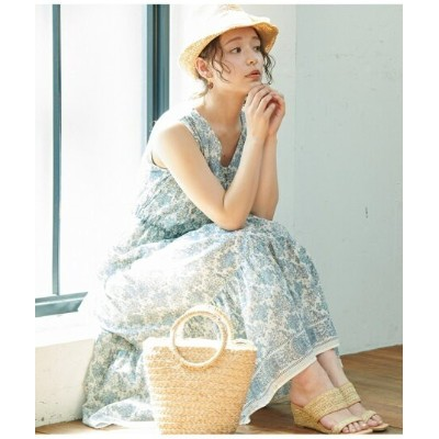 ROPE' PICNIC 【WEB限定】パネル柄ティアードワンピース ロペピクニック ワンピース【先行予約】*【送料無料】