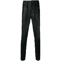 Ann Demeulemeester slim fit trousers - ブラック
