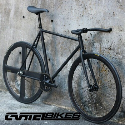 "CARTEL BIKES ""AVENUE LO"" DINER REAR 4SPOKE CARBON WHEEL CUSTOM MAT BLACK カーテルバイク【自転車 バイク スポーツバイク..."