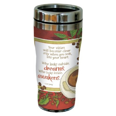 Tree-Free Greetings sg23446 Thoughtful Coffee and Jung Quote by Robin Pickens Sip 'N Go Stainless...