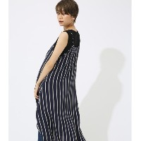 【SALE 50%OFF】【AZUL BY MOUSSY】ストライプドビーキャミワンピース 柄NVY