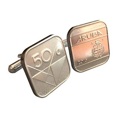 AmmoギフトボックスAruba 50 Cent Coin Cufflinks