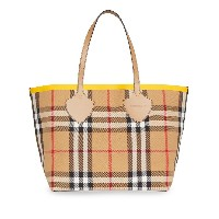 Burberry The Large Giant Tote in Colour Block Check - ブラウン