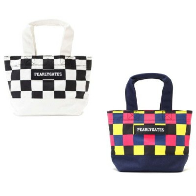 【NEW】PEARLY GATES パーリーゲイツCHECKERED PATTERN 帆布調トート型カートバッグ 9181202/19AF