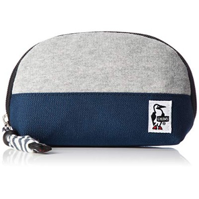 [チャムス] ポーチ Shell Pouch Sweat Nylon H-Gray/Basic Navy