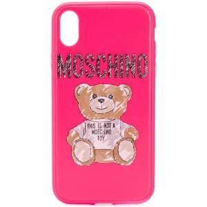 Moschino テディベア iPhone XR ケース - ピンク