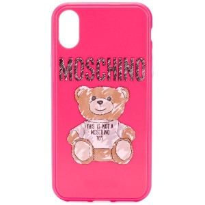 Moschino テディベア iPhone XS/X ケース - ピンク