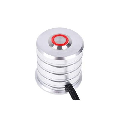 Alphacool Powerbutton with push-button 19mm red lighting - Chrome
