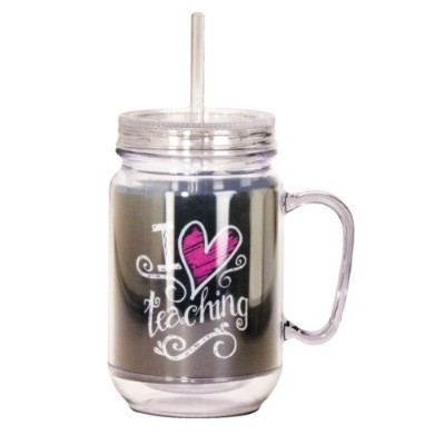 Spoontiques Teacher Mason Jar, Black by Spoontiques