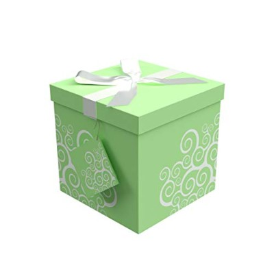 (6x6, Green) - Endless Art US Calypso EZ Gift Box. Easy to Assemble and No Glue Required. (6x6)