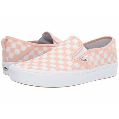 バンズ メンズ スニーカー シューズ ComfyCush Slip-On SF (Checker) Spanish Villa/White
