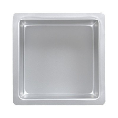 PME Square 12 x 12 x 3 Seamless Professional Aluminum Baking Pan, Silver by PME
