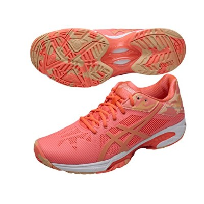 asics アシックス オールコート用テニスシューズ GEL-SOLUTION SPEED 3 L.E. E853N 0630 FLASH CORAL/CANTELOUPE/APRICOT ICE...