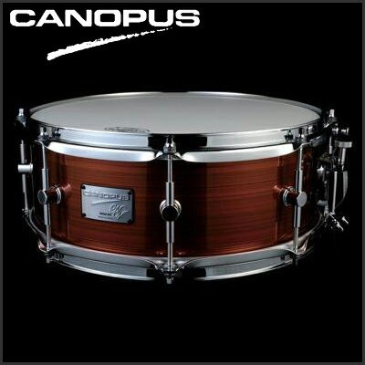 "CANOPUS Neo-Vintage Series Snare Drum NV60M3S-1465 14""x6.5"" (Hairline Brown) 《スネアドラム》【送料無料】【ONLINE..."