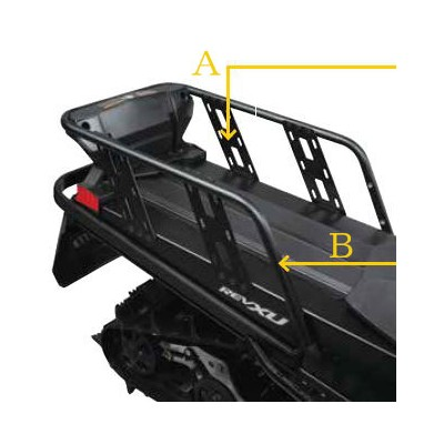 2020 ski-doo/スキードゥLUGGAGE RACK REINFORCEMENT PLATES荷台ラック補強プレートREV-XM, REV-XP, REV-XR, REV-XU Tundra...