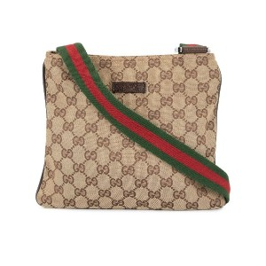Gucci Pre-Owned Shelly Line メッセンジャーバッグ - ブラウン