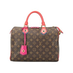 Louis Vuitton Pre-Owned Speedy 30 Flamingo モノグラム トートバッグ - ブラウン