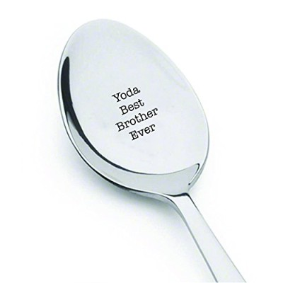 Yoda Best Brother Ever – キュートspoon- Engraved spoon- Coffer lover- EngravedシルバーWare byボストンクリエイティブ会社