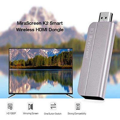 Wifi Display Dongle, MiraScreen 1080P HDMI Airplay Miracast Wireless Display Adapter for Android...