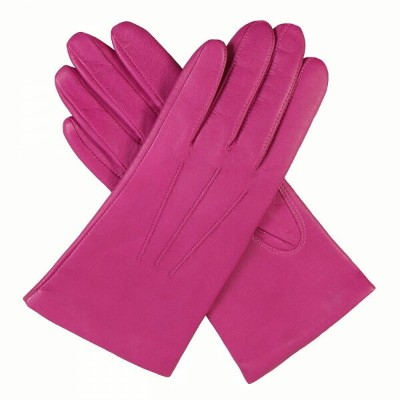 デンツ Dents レディース 手袋・グローブ【Leather Glove With Acylic Lining】pink