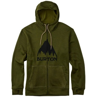 BURTON MB Oak Full-Zip Hoodie 2017FW Olive Branch Heather