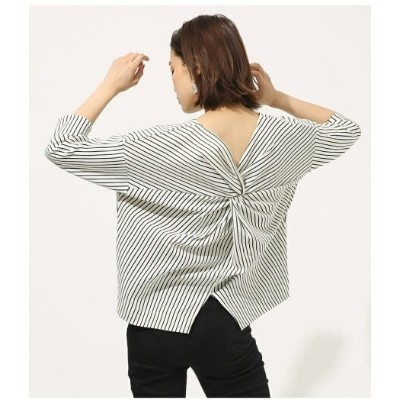 AZUL by moussy BACK TWIST TOPS アズールバイマウジー カットソー