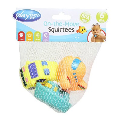 Playgro 0183480 On the Move Squirtees for Baby