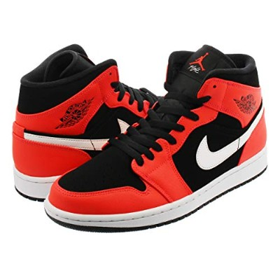 [ナイキ] AIR JORDAN 1 MID BLACK/INFRARED 23/WHITEUS9-27.0cm [並行輸入品]