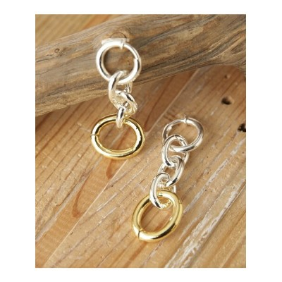 [Rakuten Fashion]【SALE/50%OFF】OvalLong&ShorChainEarClips on the sunny side of ナノユニバース アクセサリー ピアス...