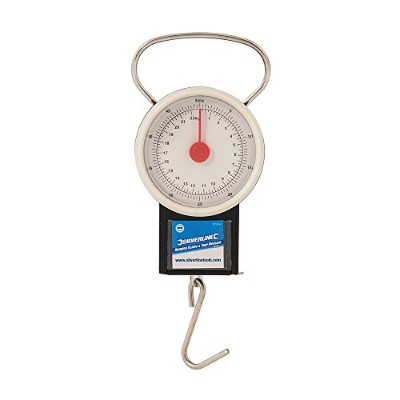 Silverline 251024 Hanging Scales And Tape Measure With Dial Display, 65mm