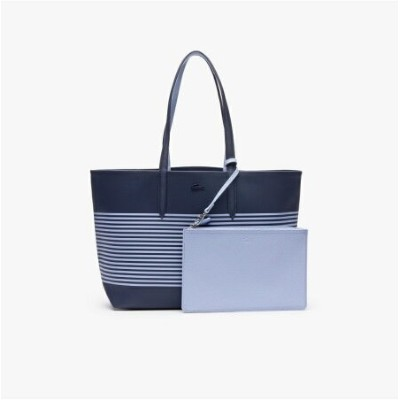 【SALE/30%OFF】LACOSTE ANNA FANTAISIE マリンボーダーリバーシブルトートバッグ ラコステ バッグ トートバッグ ブルー レッド【送料無料】