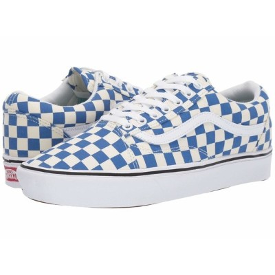 バンズ メンズ スニーカー シューズ Comfycush Old Skool (Checker) Lapis Blue/True White