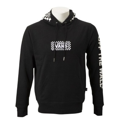 【VANSウェア】VANS CHECKER PATCH PULL HOODIE ヴァンズ フーディー・パーカー CD19SS-MC12 BLK/WHT