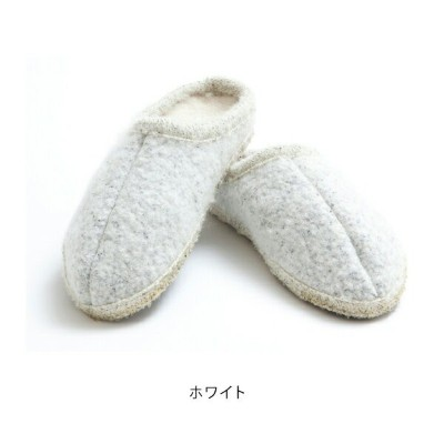 ULLE Mohair Roomshoes Whiteウーレ モヘア ルームシューズ ホワイト [Cozy]