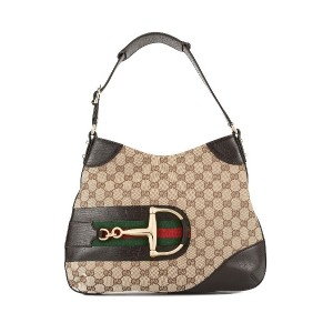 GUCCI PRE-OWNED Jackie GGパターン ショルダーバッグ - ブラウン