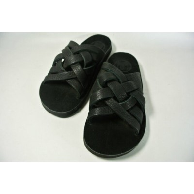 The Sandalman M's The Weave Leather Sandal(BLK/Birken Stock Birksole) サンダルマン メンズ ウィーブ レザーサンダル