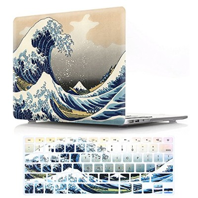 """papyhall Macbookケースカラー印刷プラスチック保護ハードケース&キーボードカバーfor MacBook Air 13 """"モデル: a1466 /a1369 (A1425,A1502)..."""