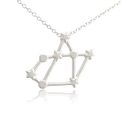 Cos (TM) Zodiac Constellation Signシンボルペンダントネックレス