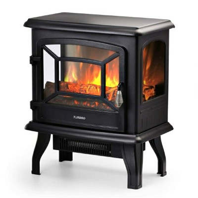 "電気暖炉 フェイク暖炉 ストーブ TURBRO Suburbs 20"" 1400W Electric Fireplace Stove, CSA Certified Freestanding..."