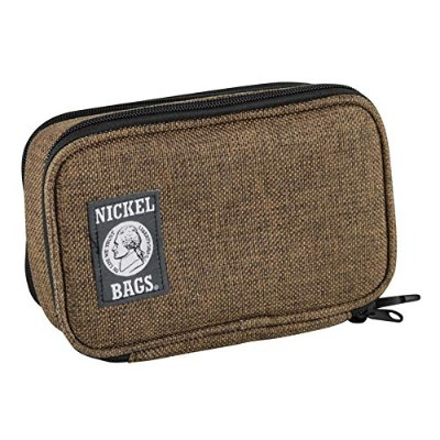 "Nickel Bags Zippered Padded Pod""7/ by""Dime Bags""-ニッケルバッグ パッド入り ジッパーバッグ[パイプケース/ヴェポライザーケース] (Brown)"