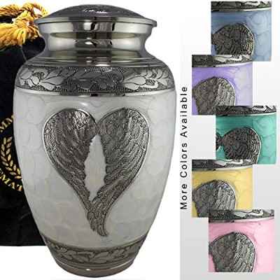 Loving Angel Wings - Niche, Burial, Columbarium or Funeral 大人用 遺灰入れ